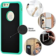 iPhone 6 Plus / iPhone 7 Plus Magic Nano Anti Gravity Phone Case - Can Stick to Glass, Whiteboards, Tile and Smooth Flat Surfaces (Green)
