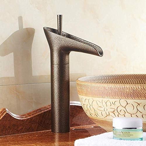 ZT-TTHG ヴィンテージバンプテクスチャの銅の浴室の洗面台の蛇口ホームホテルクリエイティブワイングラスの形単穴の蛇口
