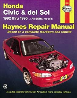 honda civic crx and del sol 1984 95 repair manual chilton rh amazon com 2006 Honda Civic Torque Specifications Honda Civic Manual Water PU