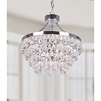 Ivana 5 light chrome luxury crystal chandelier amazon ivana 5 light chrome luxury crystal chandelier mozeypictures Images
