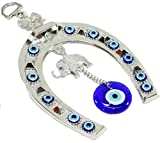 Turkish Blue Evil Eye (Nazar) Horse Shoe Elephant Amulet Wall Hanging Home Decor Protection Blessing Gift US Seller