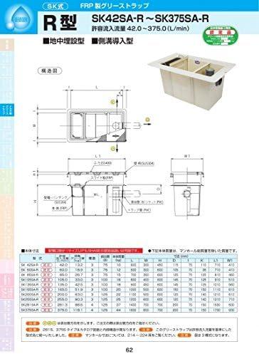 R型 SK105SA-R 耐荷重蓋仕様セット(マンホール枠:ステンレス/蓋:ステンレス) T-20