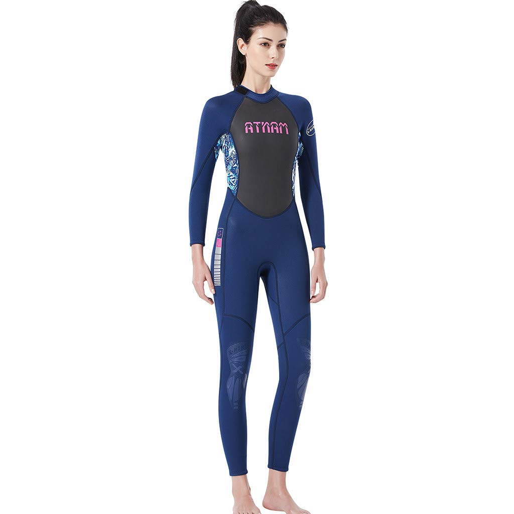 LUXISDE Women's Keep Warm Sunscreen Swimming,Surfing and Snorkeling Diving Coverall Suit Blue by LUXISDE (Image #3)