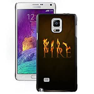 Fire Text Hard Plastic Samsung Galaxy Note 4 Protective Phone Case