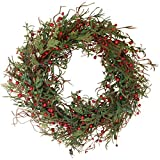 The Wreath Depot Marion Winter Berry Wreath, 22 Inch