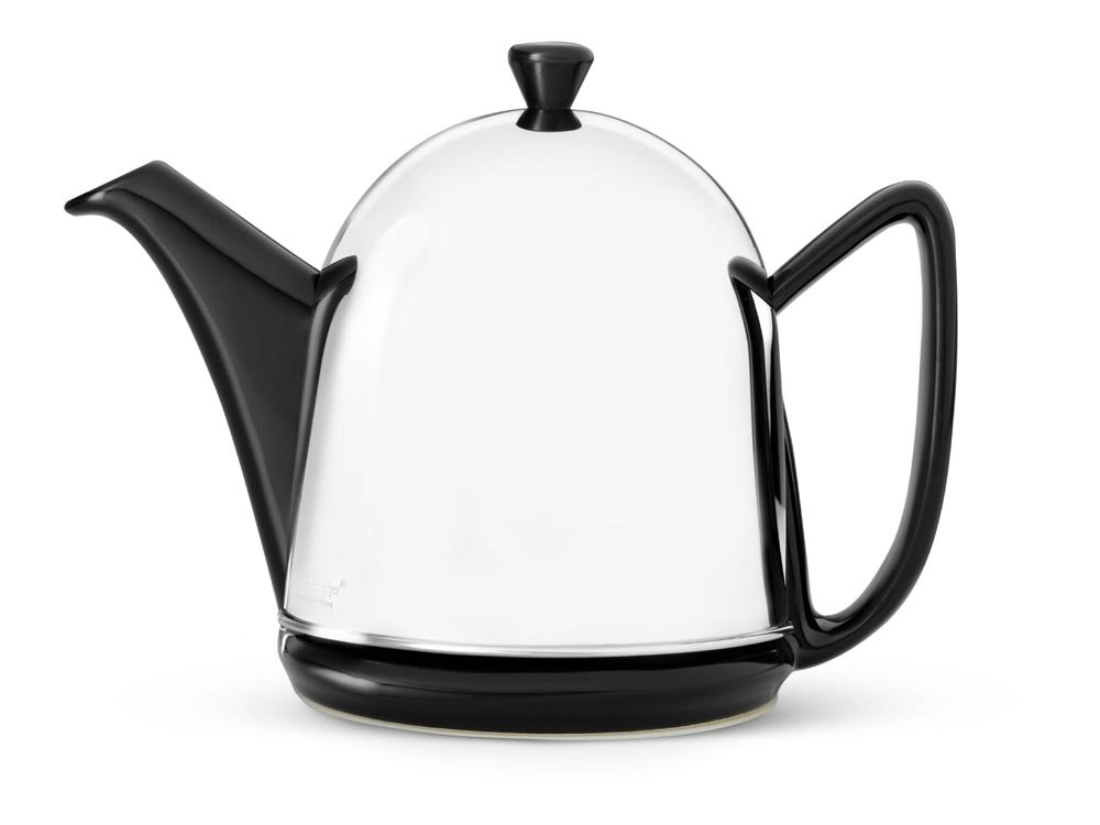 bredemeijer 1510Z Cosy Manto Teapot, 1-Liter, Black Ceramic with Insulated Shell