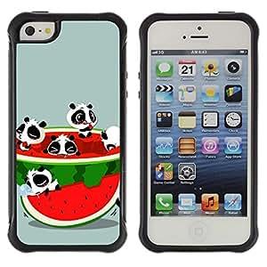 Suave TPU GEL Carcasa Funda Silicona Blando Estuche Caso de protección (para) Apple Iphone 5 / 5S / CECELL Phone case / / Watermelon Fruit Fresh Red Panda Bear Cute /