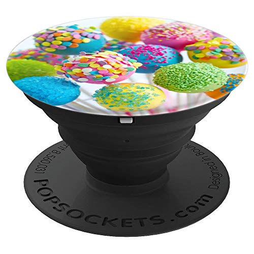 (Colorful Cake Pops - Dessert Lover Gift - PopSockets Grip and Stand for Phones and)