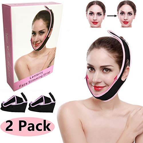 Face Lifter Strap Chin Slimmer Belt, Double Chin Reducer Patch Facial Shaper Bandage Ultra-Thin V Face Anti Wrinkle Slim Up Band Mask for Women Men Round Face