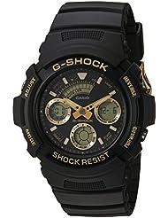 Casio Mens G SHOCK Quartz Resin Casual Watch, Color:Black (Model: AW-591GBX-1A9CR)