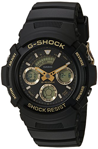 Casio Men's 'G Shock' Quartz Resin Casual Watch, Color:Black (Model: AW-591GBX-1A9CR) ()