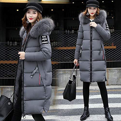 Pour Version Froid Fashion Sauvage Guxiu Gray Vêtements Cheveux Longue Lady Doudoune Mince Femmes Chaud Corps De D'hiver Grands Collier THv1nwvx