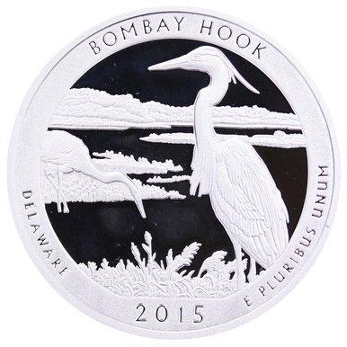 2015 S National Parks Delaware Bombay Hook Proof Quarter PF1
