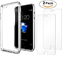 iPhone 7 Plus Case + 2Pack iPhone 7 Plus Glass screen protector ,Am...