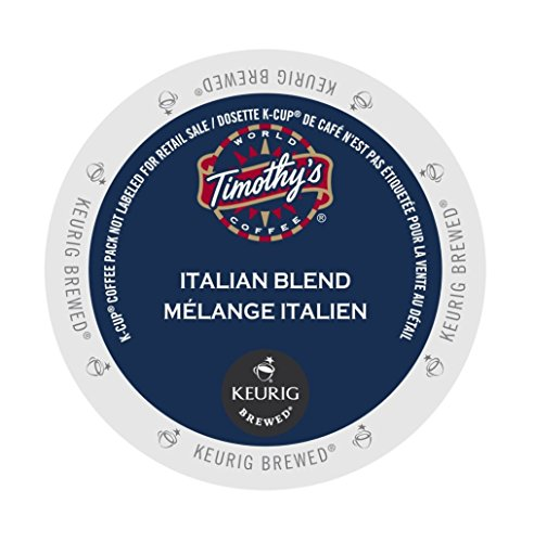 Italian Blend - Timothy's World Coffee, Italian Blend, K-Cup Portion Pack for Keurig K-Cup Brewers, 24-Count (Pack of 2)(Packaging may vary)