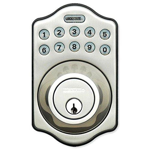 LockState RemoteLock 5i WiFi Electronic Deadbolt Door Lock - Satin Nickel - Aspen (LS-DB5i-SN-A)