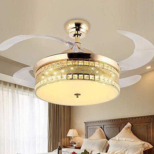 42 Inch Modern Crystal Ceiling Fan Light