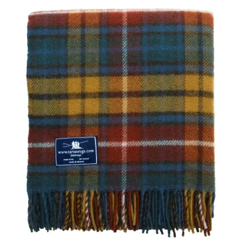 Tartan Wool Blankets (Antique Buchanan Tartan Premium Wool Throw)