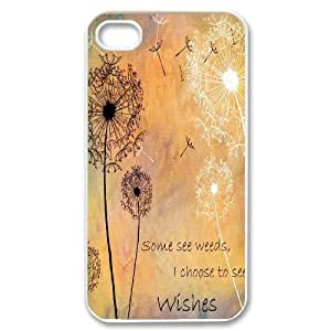 Unique Hard Back Case for iPhone 4, iPhone 4s w/ Dandelion image at Hmh-xase (style 13)