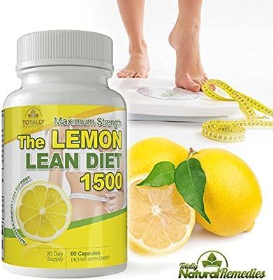 The Lemon Lean Diet - Maximum Potency 1500 mg I All Natural Advanced Weight Loss Formula I Detox, Digestion & Circulation Support I Includes Bonus Diet eBook I 60 Capsules