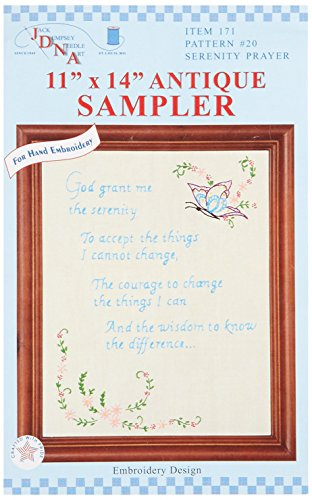 Jack Dempsey Stamped 11x14 Antique Sampler: Serenity Prayer Jack Dempsey Stamped Embroidery