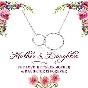 KTFNOMES collar para madre e hija – Círculos entrelazados infinito ...