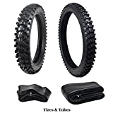 80 90 21 motorcycle tire - JCMOTO Complete Tire Set: Front Tire 80/100-21 With Inner Tube + Rear 110/90-18 For Dirt Pit Bikes | Off Road Motorcycle Tires & Tubes