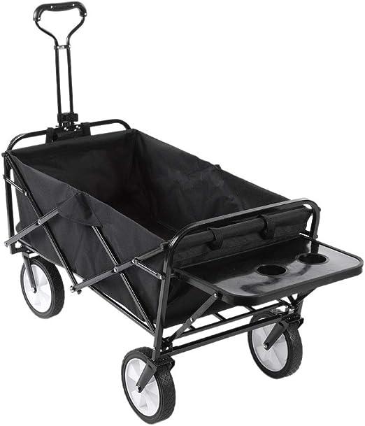 Zerone carrito de jardín plegable, carrito de mano plegable para ...