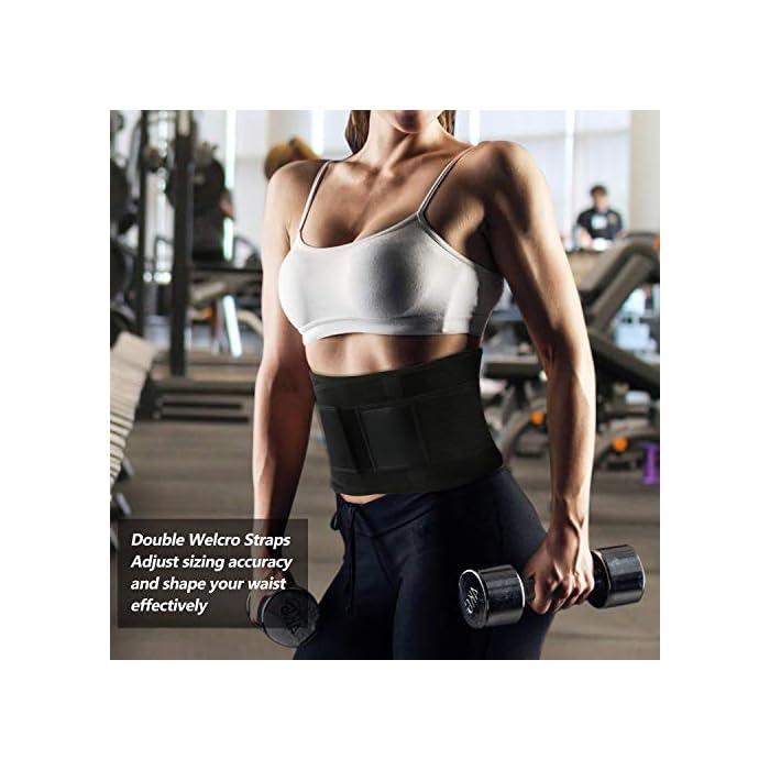 51LXjtvN1RL ▶ STIMULATE FAT BURN LOSE PESO ---- El reductor de la cintura para adelgazar de las mujeres aumenta el calor del cuerpo para promover la transpiración durante sus actividades deportivas. Maximice su quemadura y pierda esa grasa abdominal rápidamente conservando el calor corporal y eliminando el exceso de peso del agua, especialmente en su área abdominal con esta envoltura estomacal. Cintura adecuada: 85-89 cm. ▶ SOPORTE DE RESPALDO MANTENGA SALUDABLE --- Aumente el velcro y los 4 huesos de acrílico reforzados encerrados en un lienzo grueso en la parte posterior ofrecen compresión abdominal instantánea y soporte lumbar; Cinturón de fitness proporciona compresión para apoyar la espalda baja y los músculos abdominales. Le permite tener el soporte adecuado y evitar el dolor y promover el fortalecimiento muscular en las áreas lumbar y abdominal, mejorar la postura y estabilizar la columna vertebral. ▶ CINTURÓN DE BODA PARA ENTRENAMIENTO DE ENTRENADOR DE CINTURA ---- Fabricado con un tejido suave y elástico de alta calidad, hecho para durar y adaptarse a la forma de su cuerpo sin irritar su piel. El cierre de velcro permite el ajuste de acuerdo con el tamaño, para una mayor comodidad y transpirabilidad. Excelente para el corsé de abdomen.