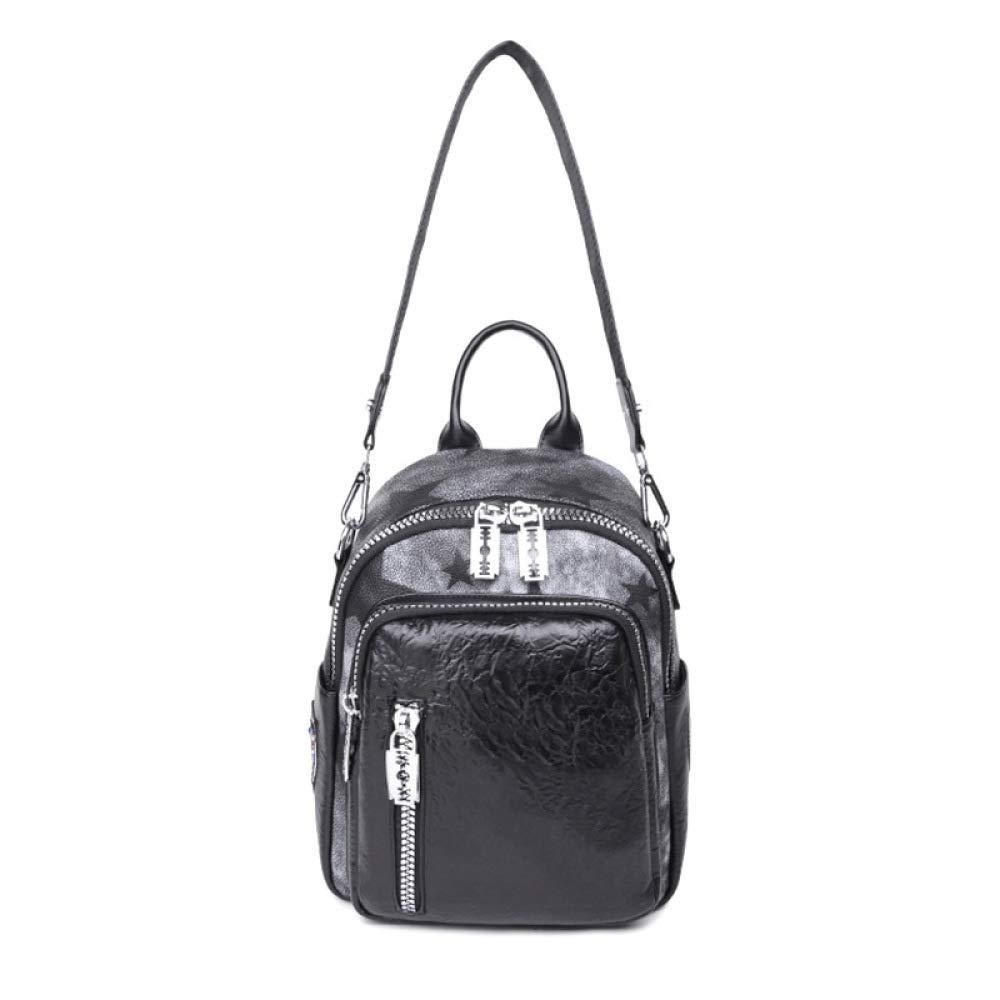 QWKZH Mode Dame tragbaren Freizeitrucksack einfache wasserdichte Dual-Use-Studententasche