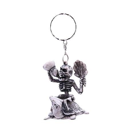 BESTOYARD - Llavero con diseño de Calavera y Esqueleto ...