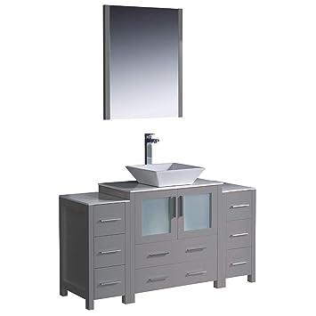 Fresca Torino 137,2 cm Gris moderne de salle de bain Vanité ...