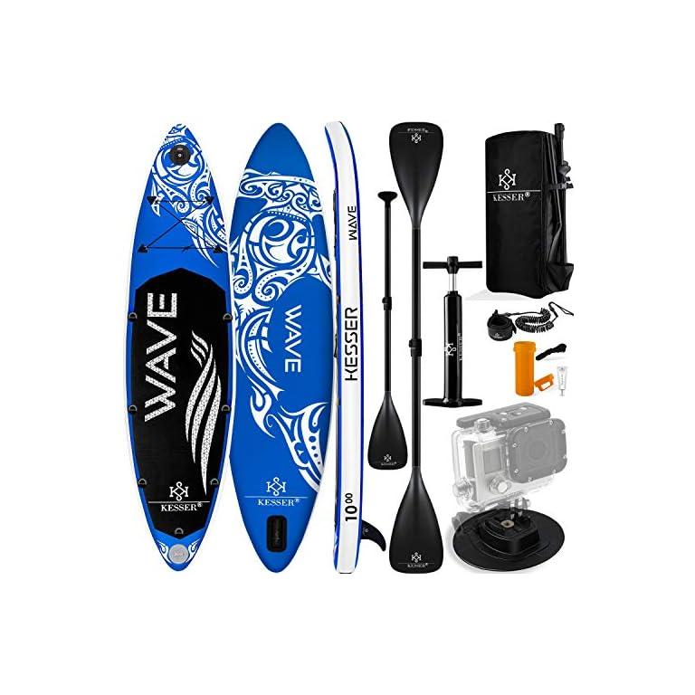 KESSER® Aufblasbare SUP Board Set Stand Up Paddle Board   305x76x15cm 10.0′   320x76x15cm 10.6′   366x77x15cm 12.0…