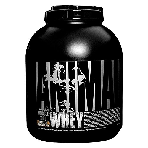 Universal Nutrition Animal Whey Isolate Loaded Whey Protein Powder Supplement, Frosted Cinnamon Bun, 4 Pound 4lb Small Animal Foods