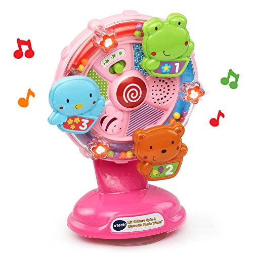 51LXkiEybjL - VTech Lil' Critters Spin and Discover Ferris Wheels, Pink (Amazon Exclusive)