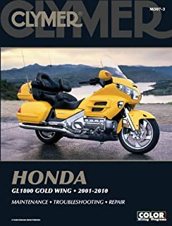 amazon com honda gl 1800 gold wing haynes repair manual 2001 honda 1800 gold wing 2001 2010 clymer color wiring diagrams