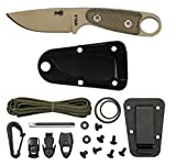 Cheap ESEE Izula Desert Tan Survival Knife with Grey Micarta Handles and Survival Kit
