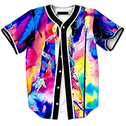 Big Boy Young Men Baseball Jersey Shirt Michael Jackson MJ 3D Shirts