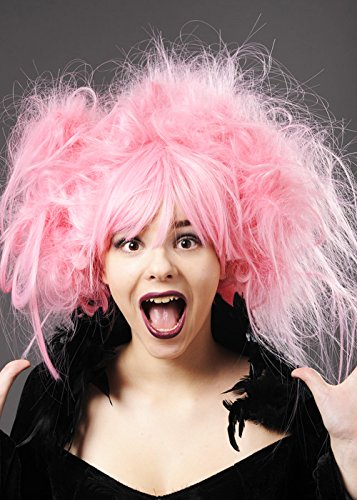 Deluxe damen Baby Rosa chaotisch Zombie Perücke B0166VRYIC Perücken & Haarteile für Erwachsene Schönes Aussehen | Sehr gute Qualität