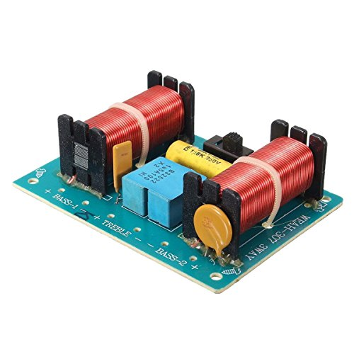 TOOGOO(R) Treble Bass 3 Way Frequency Divider Speaker Audio Crossover Filters Board DIY