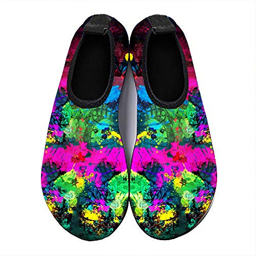 Water Sports Shoes Barefoot Quick-Dry Aqua Yoga Socks Slip-on for Men Women and kids Colored smoke (Best Shoes For Ddr)
