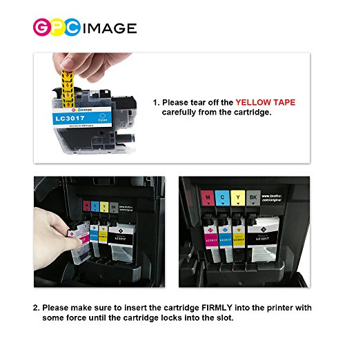 GPC Image Compatible Ink Cartridge Replacement for Brother LC3017 LC 3017 for Brother MFC-J6930DW MFC-J5330DW MFC-J6530DW MFC-J6730DW Printer 4 Pack (1 Black, 1 Cyan, 1 Magenta, 1 Yellow) Photo #6
