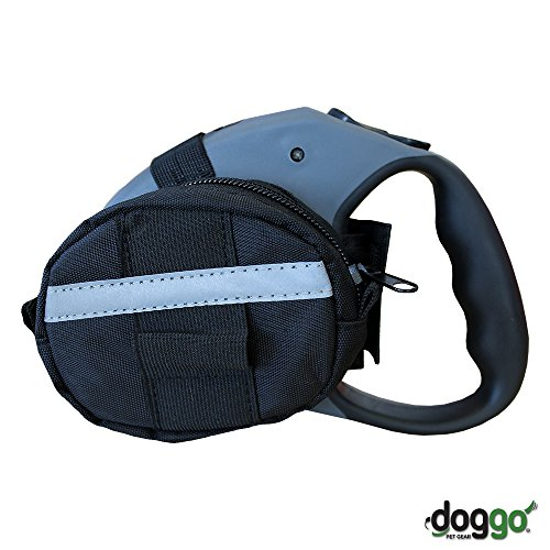 Bag Leash Dog - Doggo Retractable Leash Accessory Bag for Large Retractable Leashes, Black