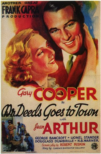 Movie Posters Mr. Deeds Goes to Town - 11 x 17