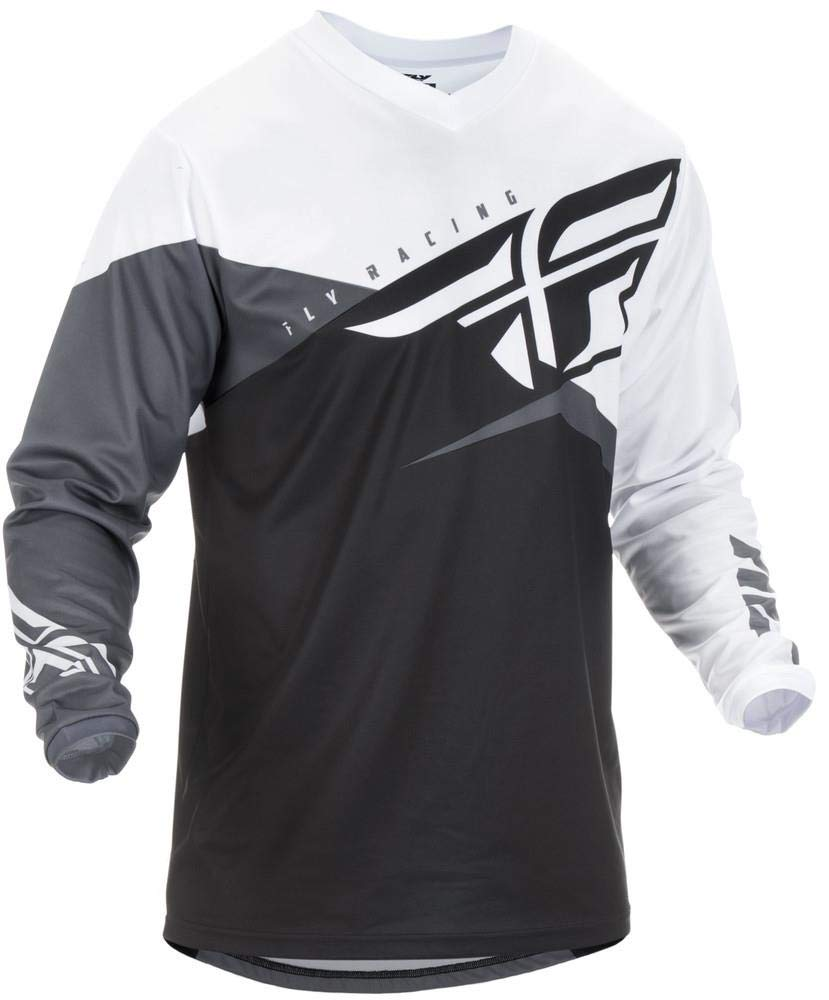 Fly Racing 2019 F-16 Youth Motocross Jersey YM Black White Grey 372-920YM