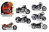 NEW 1:18 MAISTO MOTORCYCLES HARLEY DAVIDSON COLLECTION - CUSTOM MOTORCYCLES SERIES 28 ASSORTMENT Diecast Model Car By Maisto Set of 6 Cars