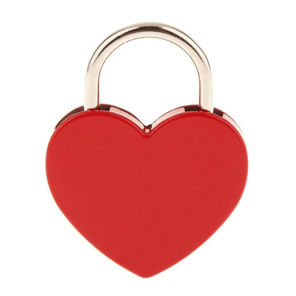 Provide The Best a Forma di Cuore Poartable Chiave del corredo dellinsieme di Impostare benedizione Benedizione Hardware Chiave Lucchetto Lucchetto Blocco Viaggiare Multi Lock Funzionale