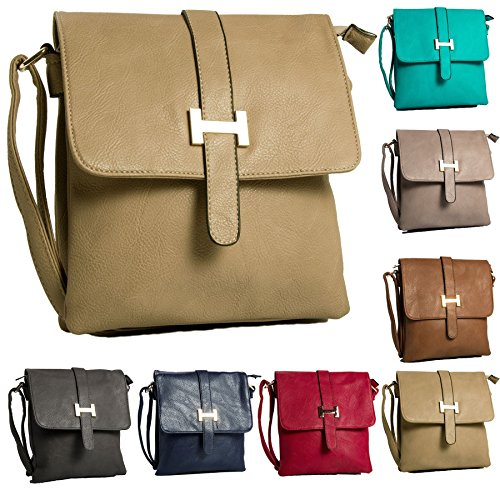 Para Big Bolso Shop Bolsa Hombro Light De bh534 Tan Multipocket Messenger Mujer Crossbody dqEqx0rnA