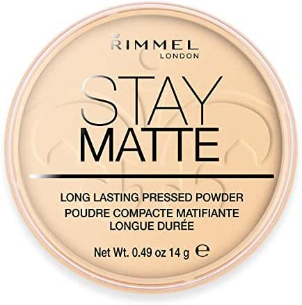 Rimmel London Stay Matte Long Lasting Pressed Powder, Transparent [001] 0.49 oz