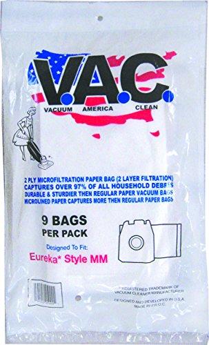VACUUM AMERICA CLEAN VAC 24 EUREKA Style MM Micro Filtration Bag (Pack of 9) by VACUUM AMERICA CLEAN